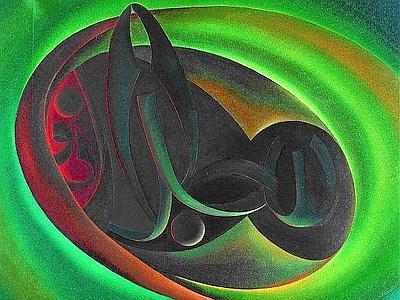 Abdel Rasoul Salman (1946, Kuwait). Dio il Glorioso, 1978, olio su tela