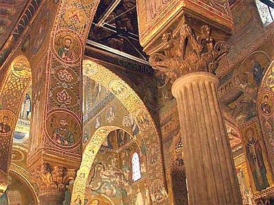 Interno della Cappella Palatina di Palermo