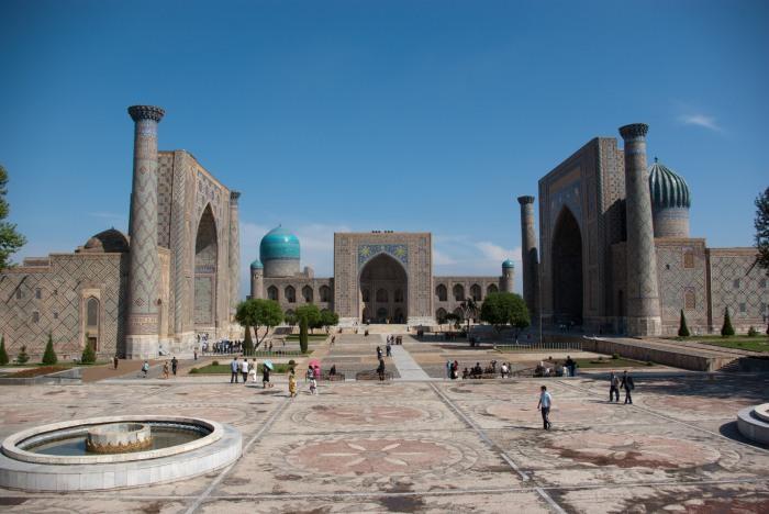 Piazza Registan a Samarcanda